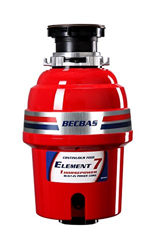 BECBAS ELEMENT 7 Garbage Disposal,1HP...
