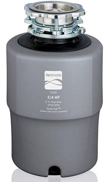 Kenmore 70351 Garbage Disposer 3/4 Horsepowe